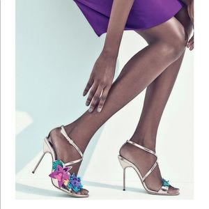 Sophia Webster 3D floral heels